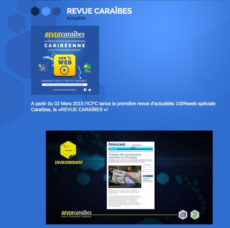 La nouvelle Revue Caraibes de l'ICFC