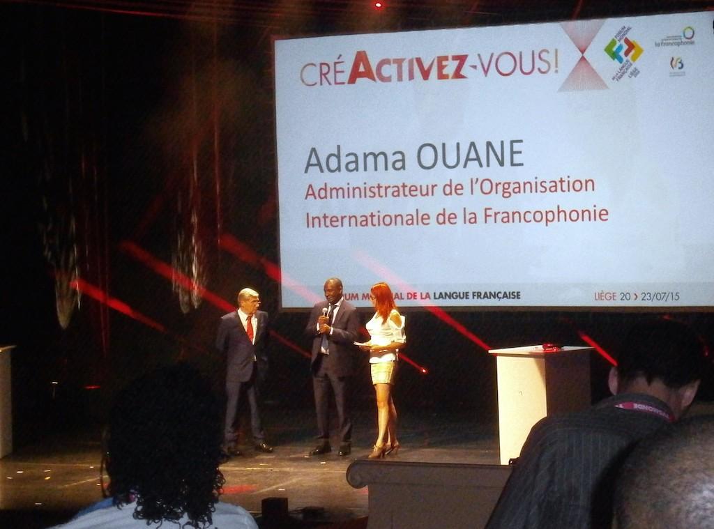 Adama Ouane, l'administrateur de l'OIF, lors de la cérémonie de clôture du 23 juillet.