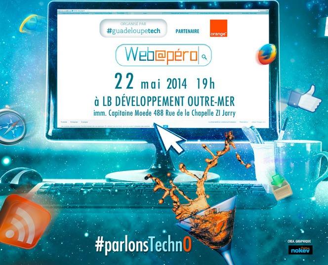Quand Guadeloupetech fait rimer web@péro et #parlonstechno