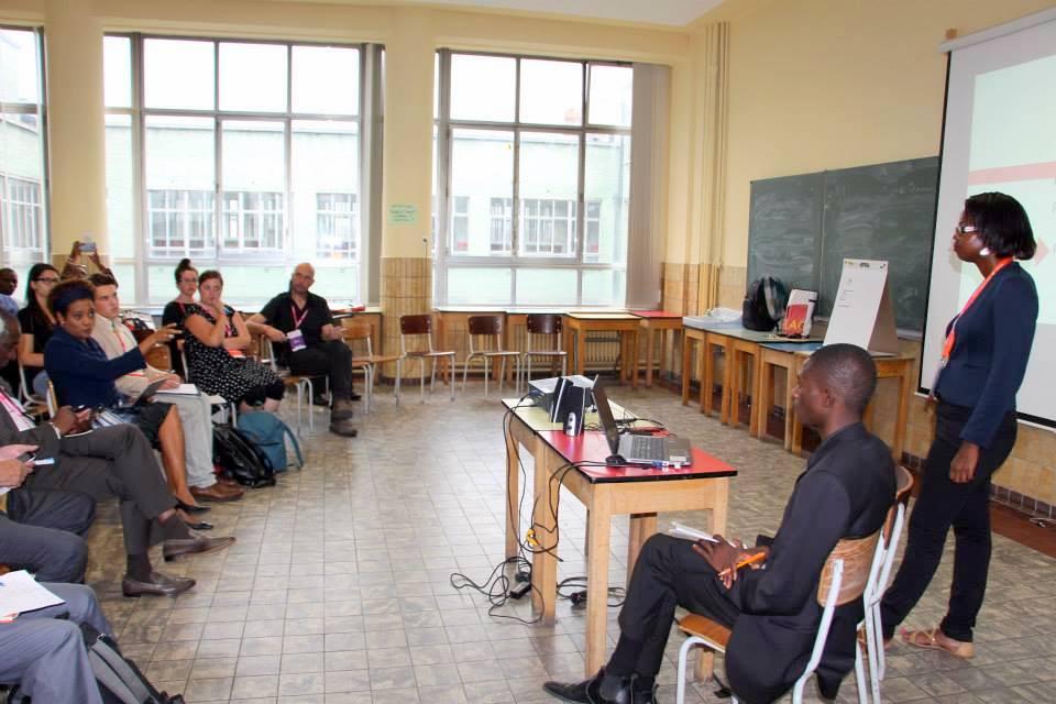 Michaëlle Jean, assise au premier rang de notre atelier. Quelle adrénaline ! Photo OFQJ.