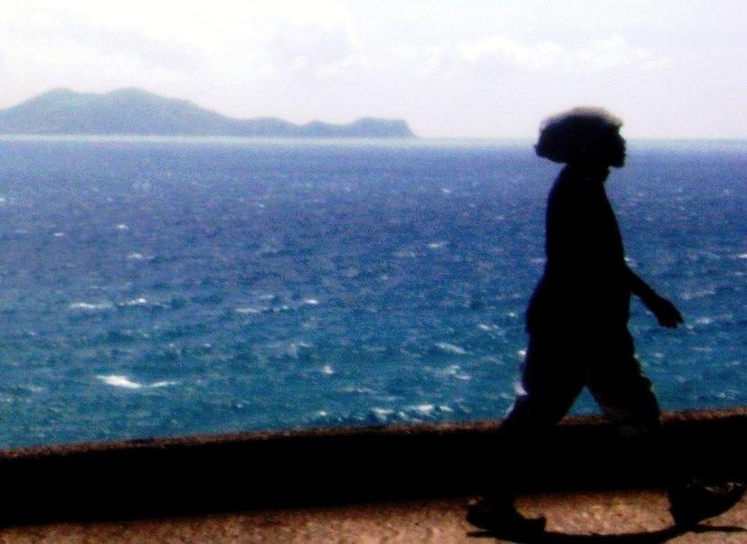 En Guadeloupe, ces marcheurs sous un soleil de plomb...