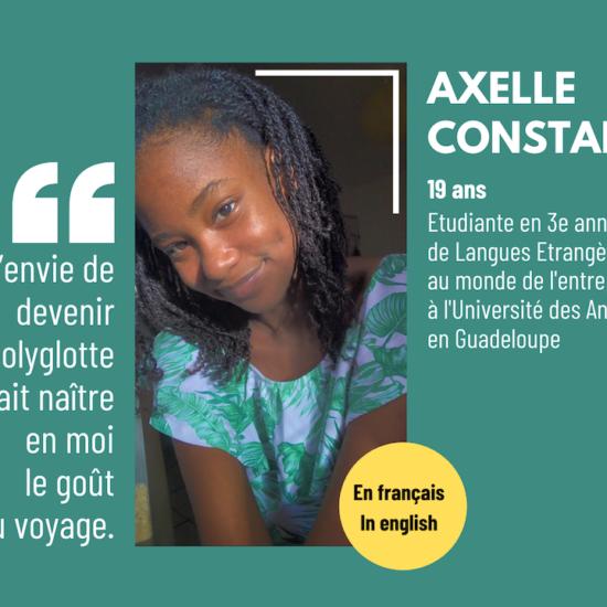 #SoCaribbean : Axelle Constantin, 19 ans, étudiante à grand potentiel